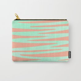 Sweet Life Soft Serve Peach Coral + Mint Meringue Carry-All Pouch