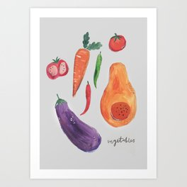 fall vegetables Art Print