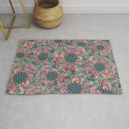 P242020 Colourburst flowers mint Rug