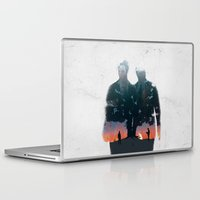 true detective Laptop & iPad Skins featuring True Detective - The Long Bright Dark by zsutti