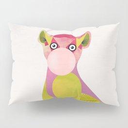 Lemur and a chewing gum club Pillow Sham