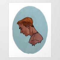 steve rogers Art Prints featuring Steve Rogers by Kaley Bales (polarbales)