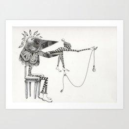 A Dark Reality  Art Print