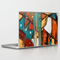 camp Laptop & iPad Skins featuring Camp fire by mystudio69