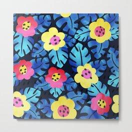 Watercolor tropical bloom Metal Print