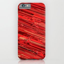 Speed Demon / Abstract 3D render of glass and metal iPhone Case