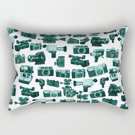 Cameras & Green Rectangular Pillow