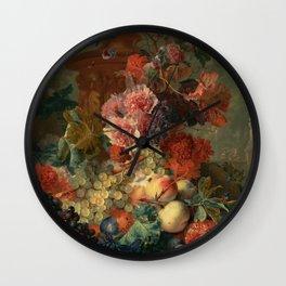 "Jan van Huysum ""Fruit Piece"" Wall Clock"