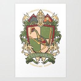 Small Logo - Chaparral Elementary School Art Print