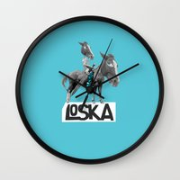 warrior Wall Clocks featuring Warrior by LOSKA