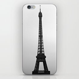 Eiffel Tower Black + White iPhone Skin