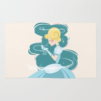 cinderella Area & Throw Rugs featuring Cinderella by LindseyCowley
