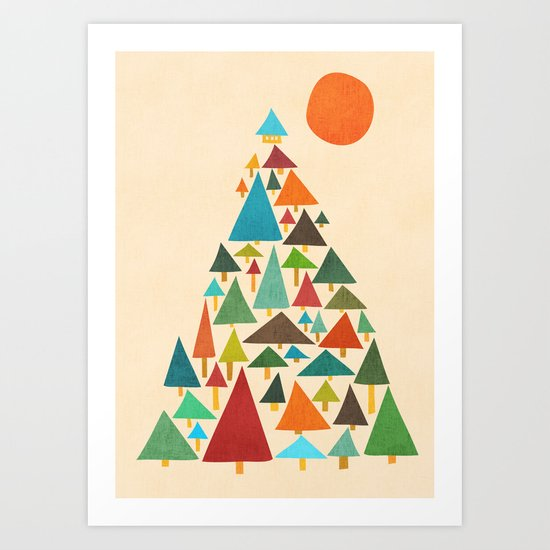 The house at the pine forest Art Print