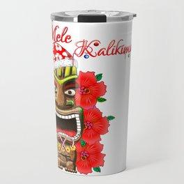 Mele Kalikimaka Santa Tiki Travel Mug