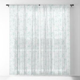Floral Freeze White Sheer Curtain