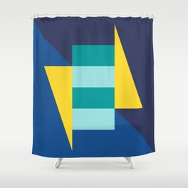 Block And Triangle #7 - Abstract Color Study Shower Curtain