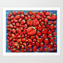 million strawberrys Art Print