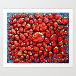 million strawberrys Art Print