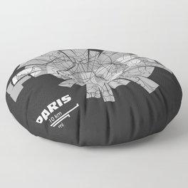 Paris Map Floor Pillow