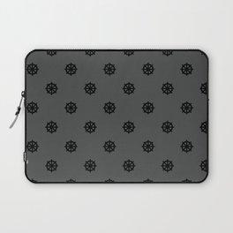 Dharma Wheel Pattern (grey) Laptop Sleeve