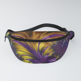 Fractal feather Fanny Pack