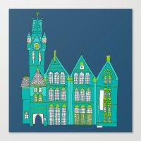 architecture Canvas Prints featuring Architecture by bluebutton studio