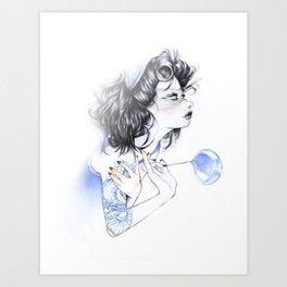 Snake Lady Art Print