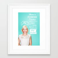 amy poehler Framed Art Prints featuring Word of Amy Wisdom by abbygoaway
