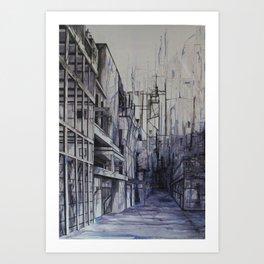 Invisible city Art Print