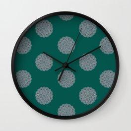Lace Mandala - Green Wall Clock