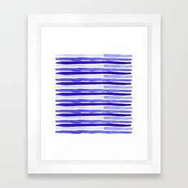 Ultra Violet Watercolour Stripes Framed Art Print