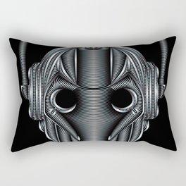 Doctor Who Cyberman Silver Rectangular Pillow