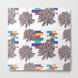 Bold colorful summer flower abstract 2020 Metal Print