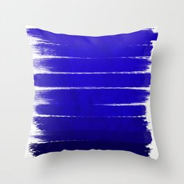 Shel - abstract painting painterly brushstrokes indigo blue bright happy paint abstract minimal mode Throw Pillow