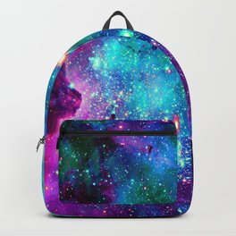 purple pink blue nebula Backpack