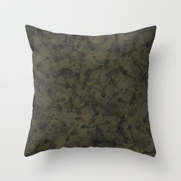 Dead fish camouflage Throw Pillow