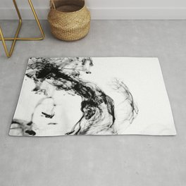 MONOCHROME MARBLE / INDIAN INK IN WATER Rug