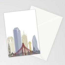 Dallas skyline poster Stationery Cards
