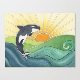 Westcoast Orca Canvas Print