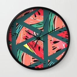 Green Watermelon pattern Wall Clock