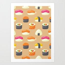 Sushi Yes Please Art Print