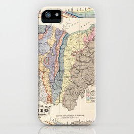 Vintage Geological Map of Ohio (1872) iPhone Case