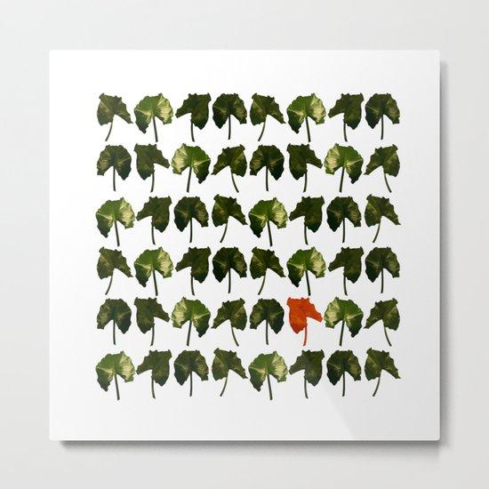Red Leave Metal Print