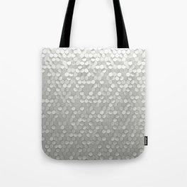 White hexagons Tote Bag