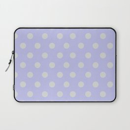 Blue Ultra Soft Lavender Thalertupfen White Pōlka Large Round Dots Pattern Laptop Sleeve