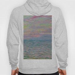 """Claude Monet """"Coucher de soleil à Pourville, pleine mer"""" Hoody"""