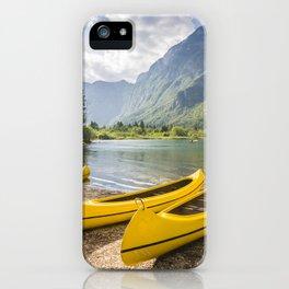 Bohinj lake, Slovenia iPhone Case