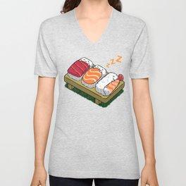 Sushi sleeping Unisex V-Neck