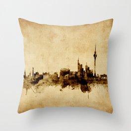 Berlin Germany Skyline Throw Pillow