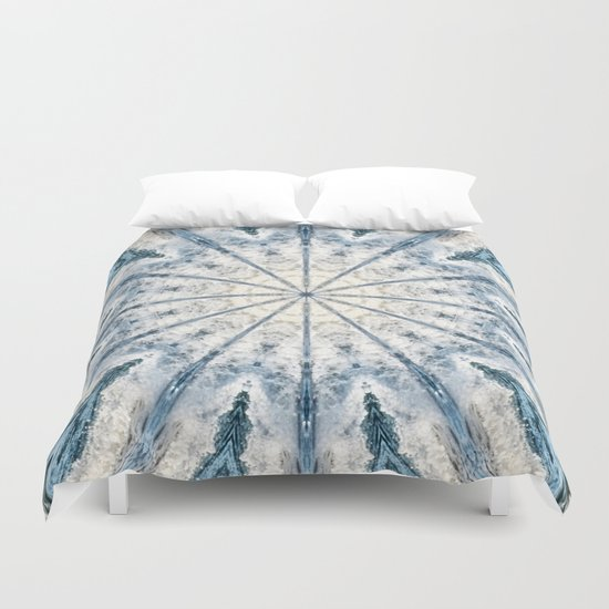 Beautiful abstract kaleidoscope of surf Duvet Cover